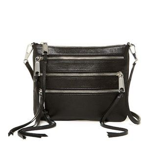 NWT Rebecca Minkoff 3 Zip Leather Rocket Crossbody